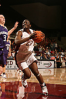 23 February 2006: Eziamaka Okafor scores the 100th point during Stanford's 100-69 win over the Washington Huskies at Maples Pavilion in Stanford, CA.