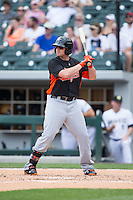 Chris Parmalee (41) of the Norfolk Tides at bat against the Charlotte Knights at BB&T BallPark on June 7, 2015 in Charlotte, North Carolina.  The Tides defeated the Knights 4-1.  (Brian Westerholt/Four Seam Images)