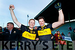 Colm Cooper and Eoin Brosnan Dr Crokes celebrate after winning the Kerry County Senior Club Football Championship Final match between Dr Crokes and Dingle at Austin Stack Park in Tralee, Kerry on Sunday.