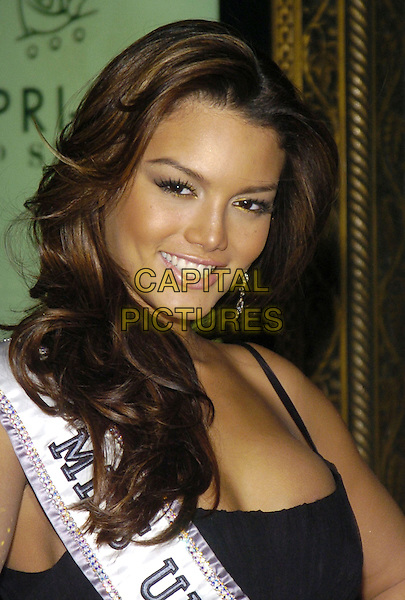 ZULEYKA RIVERA.Black tie gala benefit for amfAR, the foundation for AIDS research, at Cipriani on 42nd Street, New York, New York, USA..January 31st, 2007.headshot portrait ribbon sash miss universe.CAP/ADM/BL.©Bill Lyons/AdMedia/Capital Pictures *** Local Caption ***