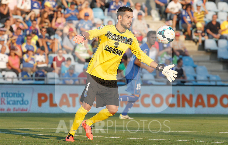 Getafe's Miguel Angel Moya during La Liga match.August 23,2013. (ALTERPHOTOS/Acero)
