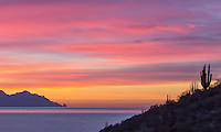 Sunrise at the Sea of Cortez off the coast of San Carlos, Sonora Mexico.