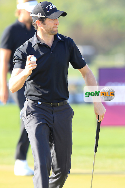 Gregory BOURDY (FRA) putts on the 15th green during Saturday's Final Round of the 2015 Commercial Bank Qatar Masters held at Doha Golf Club, Doha, Qatar.: Picture Eoin Clarke, www.golffile.ie: 1/24/2015