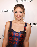 NEW YORK, NEW YORK - JANUARY 08: Olivia Wilde attends the 2019 National Board Of Review Gala at Cipriani 42nd Street on January 08, 2019 in New York City. <br /> CAP/MPI/IS/JS<br /> &copy;JS/IS/MPI/Capital Pictures