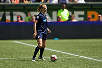 Portland, OR - Saturday July 15, 2017: Samantha Mewis during a regular season National Women's Soccer League (NWSL) match between the Portland Thorns FC and the North Carolina Courage at Providence Park.