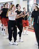?, Kelly Wallace (NU - 5), Autumn Prouty (NU - 10), ? - The Harvard University Crimson defeated the Northeastern University Huskies 4-3 (SO) in the opening round of the Beanpot on Tuesday, February 8, 2011, at Conte Forum in Chestnut Hill, Massachusetts.