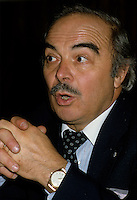 File -   Henri Bergeron en  novembre 1985<br /> <br /> Photo : Pierre Roussel