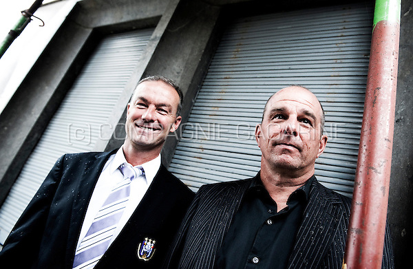 Jean Kindermans, Chief of Training and Technical Director at RSC Anderlecht, and Dirk Gyselinckx, Youth Trainer and Technical Coordinator at the RSC Anderlecht (Belgium, 07/06/2012)