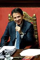 Giuseppe Conte<br /> Rome December 12th 2019. Speech of the Italian Premier about MES, European Stability Mechanism.<br /> Foto Samantha Zucchi Insidefoto