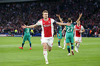Matthijs de Ligt of Ajax celebrates scoring the first goal during AFC Ajax vs Tottenham Hotspur, UEFA Champions League Football at the Johan Cruyff Arena on 8th May 2019
