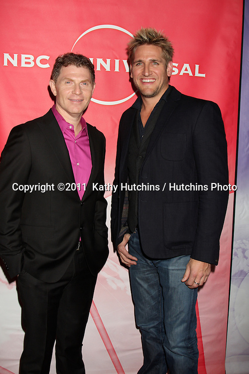LOS ANGELES - JAN 13:  Bobby Flay, Curtis Stone arrives at the NBC TCA Winter 2011 Party at Langham Huntington Hotel on January 13, 2010 in Westwood, CA.