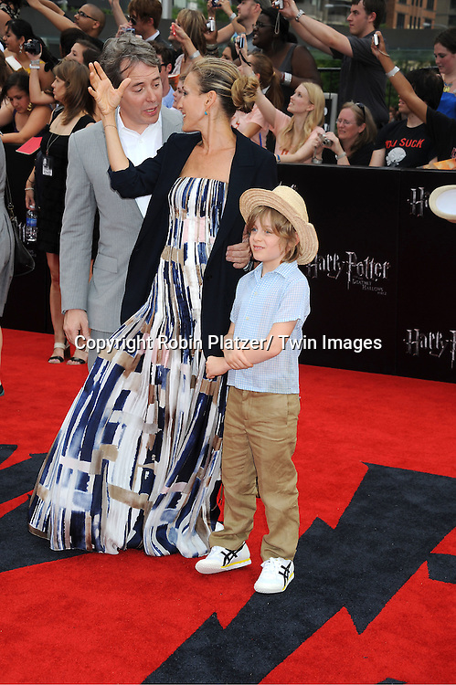 "Sarah Jessica Parker, Matthew Broderick and  James Wilke Broderick arriving to the"" Harry Potter and the Deathly Hallows- Part 2""  North American Premiere on July 11, 2011 at Avery Fisher Hall in Lincoln Center in New York City."