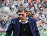 West Ham's Slaven Bilic blows away bubbles during the Premier League match at the London Stadium, London. Picture date November 5th, 2016 Pic David Klein/Sportimage