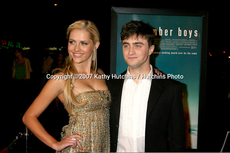 "Teresa Palmer & Daniel Radcliffe.""December Boys"" Premiere.Director's Guild Theater.Los Angeles,  CA.September 6, 2007.©2007 Kathy Hutchins / Hutchins Photo..."