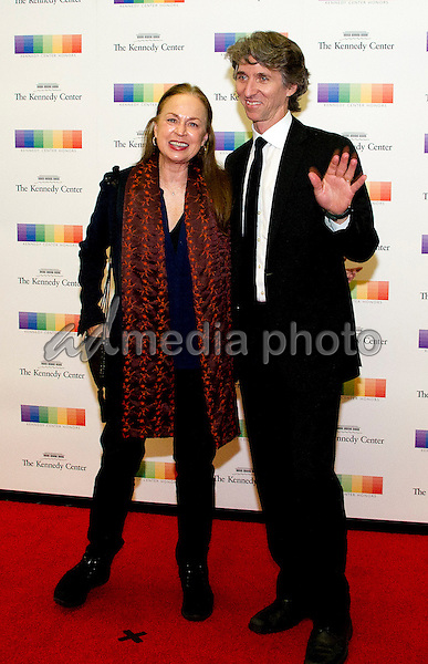 Damian Woetzel and his wife, Heather Watts, arrive for the formal Artist's Dinner honoring the recipients of the 39th Annual Kennedy Center Honors hosted by United States Secretary of State John F. Kerry at the U.S. Department of State in Washington, D.C. on Saturday, December 3, 2016. The 2016 honorees are: Argentine pianist Martha Argerich; rock band the Eagles; screen and stage actor Al Pacino; gospel and blues singer Mavis Staples; and musician James Taylor. Photo Credit: Ron Sachs/CNP/AdMedia