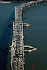 Aerial photograph of the Tappen Zee Bridge over the Hudson River