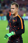 UEFA Champions League 2017/2018 - Matchday 1.<br /> FC Barcelona vs Juventus Football Club: 3-0.<br /> Marc-Andre ter Stegen.
