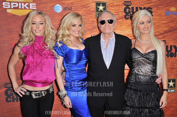 Kendra Wilkinson (left), Bridget Marquardt, Hugh Hefner & Holly Madison at Spike TV's 2008 Guys Choice event at Sony Studios..May 31, 2008  Los Angeles, CA.Picture: Paul Smith / Featureflash