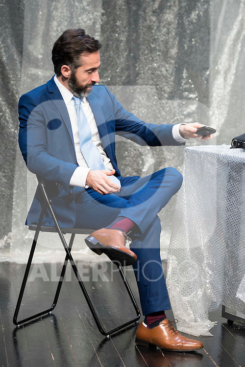"""Pepe Ocio during the theater play of """"Debate"""", the comeback to the teather of Toni Canto at Teatros del Canal in Madrid. May 03, 2016. (ALTERPHOTOS/Borja B.Hojas)"""