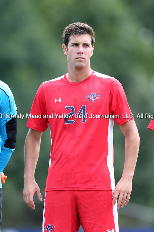 30 August 2015: Saint Mary's Jake Stenberg. The Elon University Phoenix played the Saint Mary's College Gaels at Koskinen Stadium in Durham, NC in a 2015 NCAA Division I Men's Soccer match. Elon won the game 1-0.