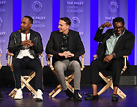 "HOLLYWOOD, CA - MARCH 17: J. Lee, Mark Jackson and Chad L. Coleman at the PaleyFest 2018 - ""The Orville"" panel at the Dolby Theatre on March 17, 2018 in Hollywood, California. (Photo by Scott Kirkland/Fox/PictureGroup)"