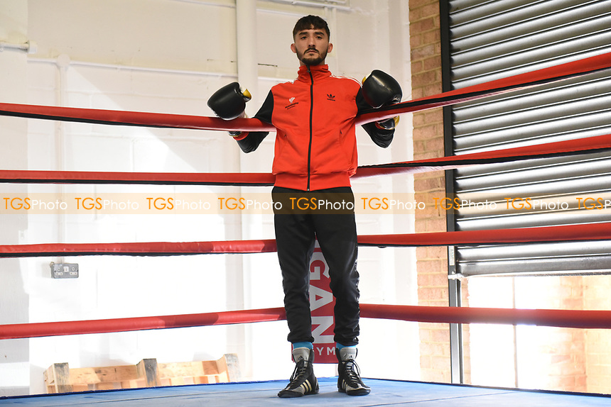 Andrew Selby during Cyclone Promotions Media Workout at McGuigan's Gym on 5th October 2017