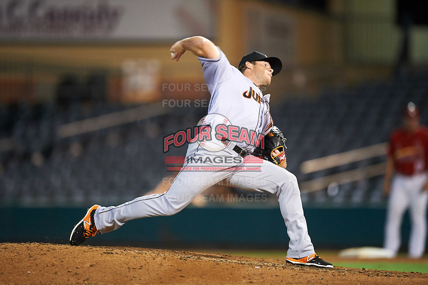 Jupiter Hammerheads relief pitcher Matt Ramsey during a game against the Palm Beach Cardinals on August 12, 2016 at Roger Dean Stadium in Jupiter, Florida.  Jupiter defeated Palm Beach 9-0.  (Mike Janes/Four Seam Images)