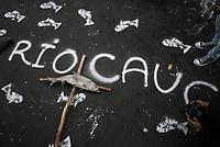 Marcha Crisis Ambiental Rio Cauca, Hidroituango. Bogota, 14-02-2019