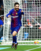7th January 2018, Camp Nou, Barcelona, Spain; La Liga football, Barcelona versus Levante; Leo Messi celebrates his goal in the 12th minute of the game