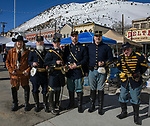 Members of the Fort Churchill Living History Organization during the 28th annual Rocky Mountain Oyster Fry and St. Patrick's Day Parade in Virginia City, Nevada on Saturday March 16, 2019.