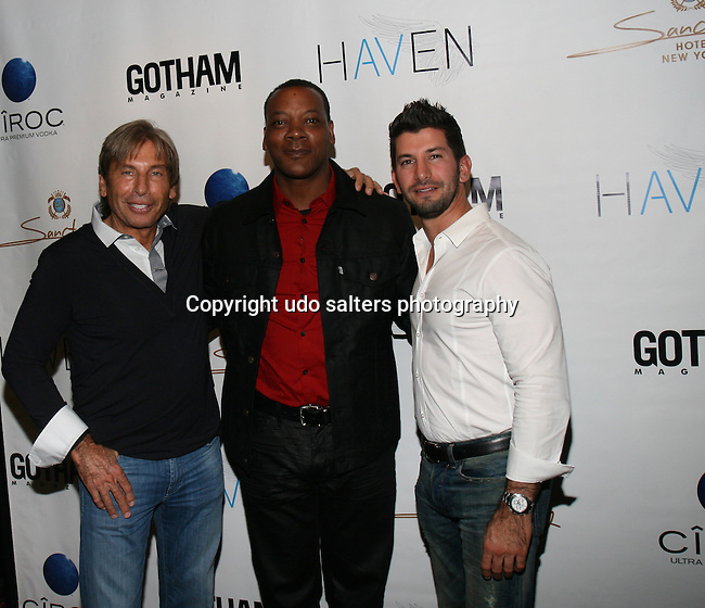 Hank Freid, Erik LaRay Harvey and Brandon Freid Attend Seth Meyers at Gotham magazine's 'The Men's Issue' release party at The Sanctuary Hotel powered by CÎROC Vodka, NY