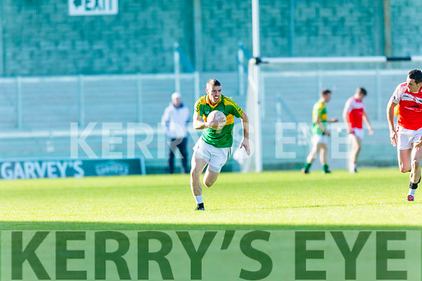 Niall O'Shea South Kerry in action against  Dingle in the Quarter Finals of the Kerry County Football Championship at Austin Stack Park on Saturday.