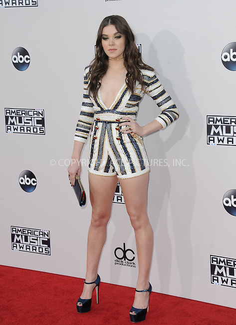 WWW.ACEPIXS.COM<br /> <br /> November 22 2015, LA<br /> <br /> Hailee Steinfeld arriving at the 2015 American Music Awards at the Microsoft Theater on November 22, 2015 in Los Angeles, California.<br /> <br /> By Line: Peter West/ACE Pictures<br /> <br /> <br /> ACE Pictures, Inc.<br /> tel: 646 769 0430<br /> Email: info@acepixs.com<br /> www.acepixs.com