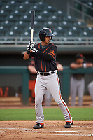 AZL Giants Black Carter Aldrete (7) at bat during an Arizona League game against the AZL Athletics Gold on July 12, 2019 at Hohokam Stadium in Mesa, Arizona. The AZL Giants Black defeated the AZL Athletics Gold 9-7. (Zachary Lucy/Four Seam Images)