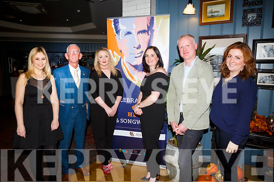 Judges Luan Powell, Cllr Sam Locke, Lisa Curran, Suzanne Ennis of Tralee Credit Union, Keith Johnston, and Aisling O'Carroll  at the at the IMRO Christie Hennessy Song Competition Live Final at the Ashe Hotel on Saturday