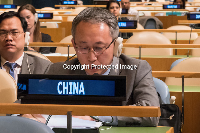 The representative of China exercises his country&rsquo;s right of reply during the general debate of the General Assembly&rsquo;s seventy-first session<br /> <br /> <br /> <br /> General Assembly Seventy-first session 20th plenary meeting<br /> <br /> General Debate