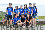 Sliabh Luachra cyclists at the top of  Coommosta during their Ring of Kerry cycle on Saturday morning front Mike Cronin, Brendan Reen, Louise Hickey. Back row: DJ O'Sullivan, Kathy Sheehan, Joan O'Callaghan, Siobhan Brosnan, Catherine Murphy and Marita Hickey