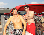 One Life To Live Josh Kelly & Tom Degnan - Celebrities take a break and enjoy themselves on the pontoon boat - SWSL Soapfest Charity Weekend May 14 & 15, 2011 benefitting several children's charities including the Eimerman Center providing educational & outfeach services for children for autism. see www.autismspeaks.org. (Photo by Sue Coflin/Max Photos)