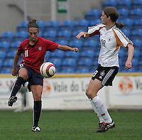 MAR 15, 2006: Faro, Portugal:  Carli Lloyd, Kerstin Garefrekes