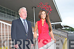 Best Dressed Man : Pictured at the launch of the Best dressed Man Competition at Listowel races are the judges of the competition Denis Guiney, Killarney, founding member of the Ring Of Kerry Cycle race and Aoife Hannon, Listowel, Miss Universe Ireland.