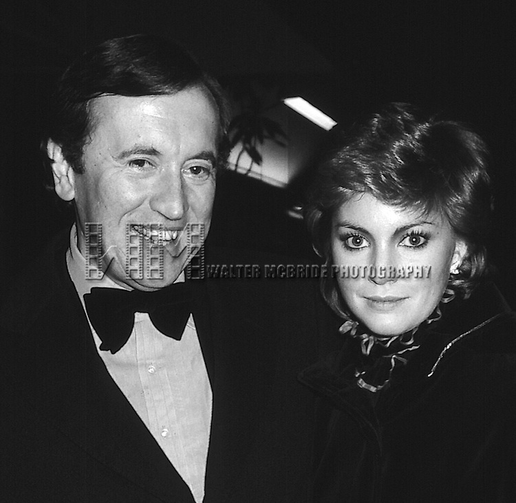 David Frost and Lynn Frederick in New York City on 2/15/1981