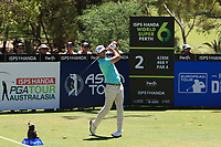 Wade Ormsby (AUS) in action on the 2nd during Round 3 of the ISPS Handa World Super 6 Perth at Lake Karrinyup Country Club on the Saturday 10th February 2018.<br /> Picture:  Thos Caffrey / www.golffile.ie<br /> <br /> All photo usage must carry mandatory copyright credit (&copy; Golffile | Thos Caffrey)