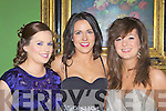 Katie Moriarty, Marie Moriarty and Katy Ann Myers looking glamorous at the Firies GAA social in the Dromhall Hotel Killarney on Friday night