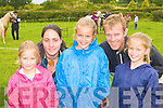 PONY SHOW: Susie Lynch, Nicola Szabova, Alice, Eddie and Lucy Lynch at the Killorglin Pony show on Sunday.
