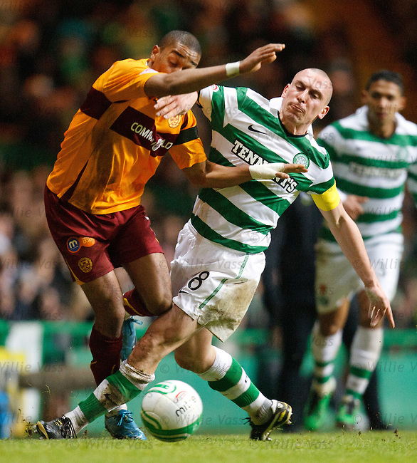 Scott Brown wipes out Chris Humphrey for his first of two yellow cards