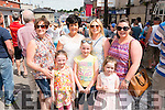 Front l-r Fiadhna Healy Cronin, Saoirsa Healy Cronin and Clodagh Riordan, Back l-rAngie Healy Cronin, Dolores O'Sullivan, Denise Riordan and Georgina O'sullivan all from Killorglin pictured at the K-Fest Music & The Arts Festival, Killorglin last Bank Holiday weekend.