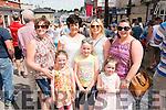Front l-r Fiadhna Healy Cronin, Saoirsa Healy Cronin and Clodagh Riordan, Back l-rAngie Healy Cronin, Dolores O'Sullivan, Denise Riordan and Georgina O'sullivan all from Killorglin pictured at the K-Fest Music & The Arts Festival, Killorglin last Bank Holiday weekend.