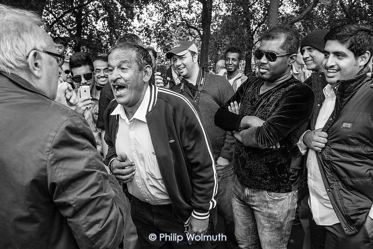 Argument, Speakers' Corner, Hyde Park, London.