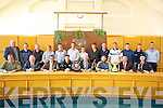 HURLERS: The Kerry Hurling victorious team and manager and management who were honoured in The Kerry County Buildings on Monday by the Mayor of Kerry Tim Buckley. Front l-r: Joe Walsh, Jerome Conway (Chairman of Kerry County Board),Tom Curran (county manager), Jason Bowler (capt 2011), Tim Buckley (mayor of Kerry), Mickey Boyle (Capt Christy Ring team), John Myler (manager) and Shane Nolan (capt 2010). Back l-r: Jim Regan,  Darren Tombey, John Hennessy, Trudy Walsh (Phy), John Griffin, Darragh O'Connell, James Flaherty, Richard Nolan, David Fitzell, Adrian Roche, Darren Wallzse, Conor Fitzell and Jason Casey.  .............
