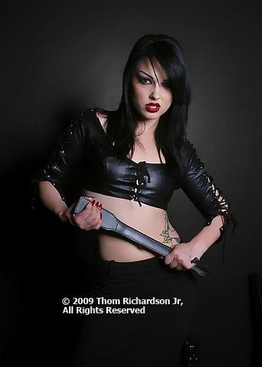 Girl in Black Vinyl